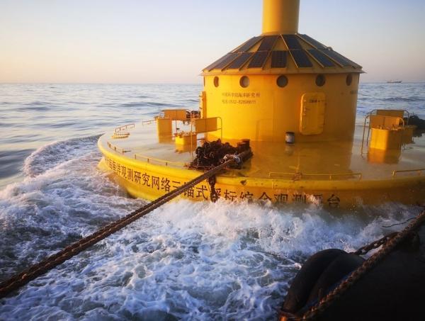 我国超大型三锚式浮标综合观测平台入列东海海洋观测研究站并正式运行